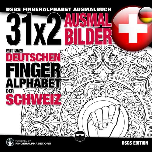 DSGS Fingeralphabet Ausmalbuch