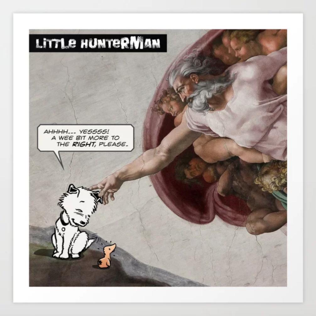 The Creation of Little Hunterman Print