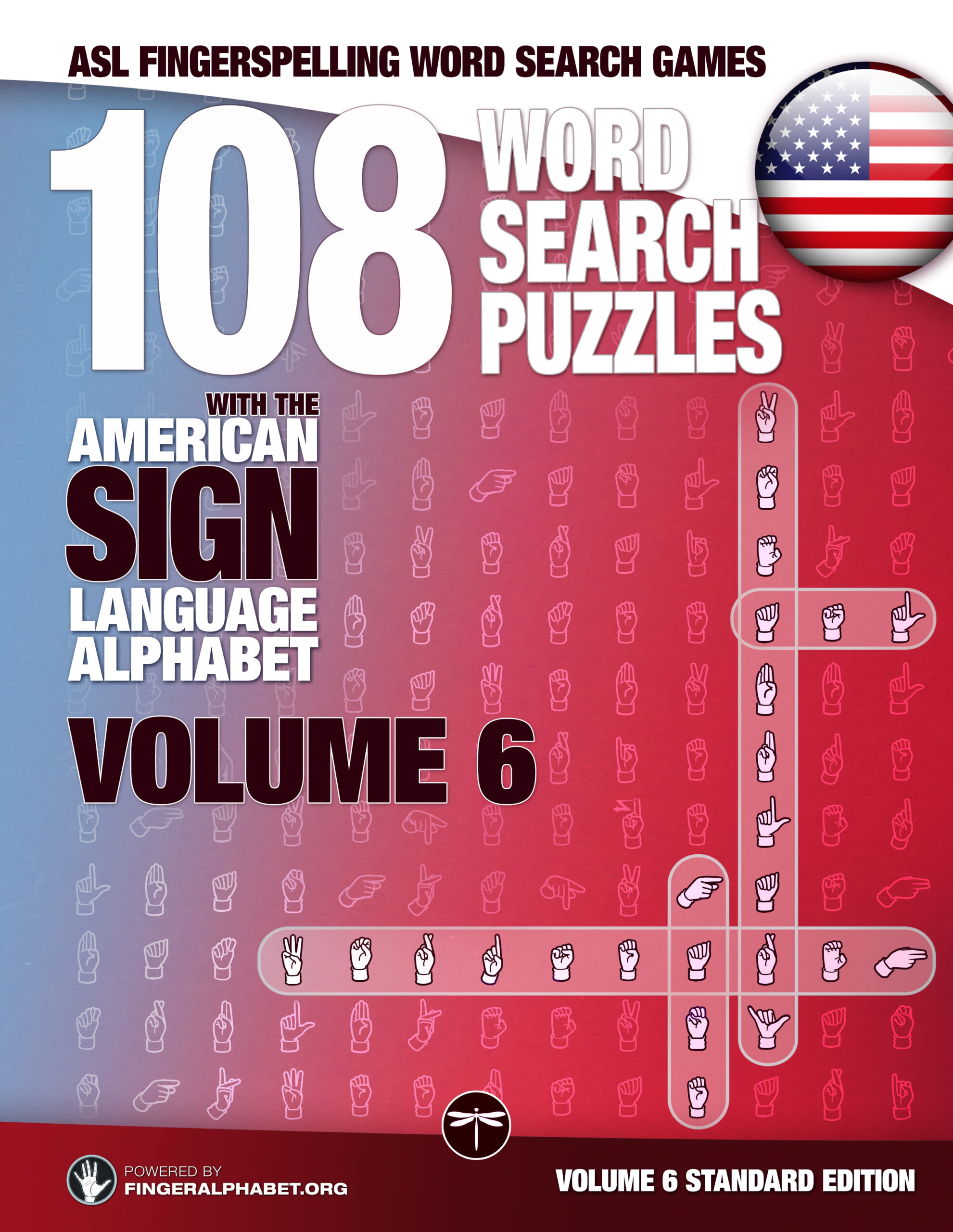 ASL Sign language Alphabet Word Search Books