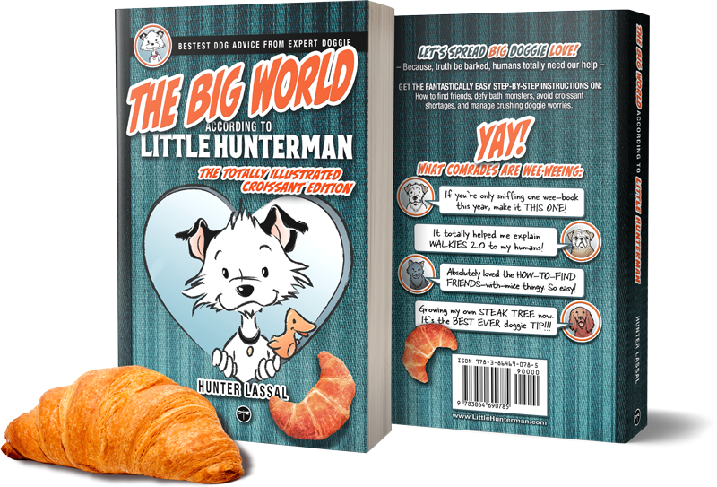 The Big World According to Little Hunterman - CROISSANT - MUG